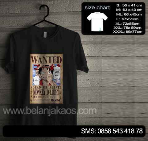 baju kaos one piece on12