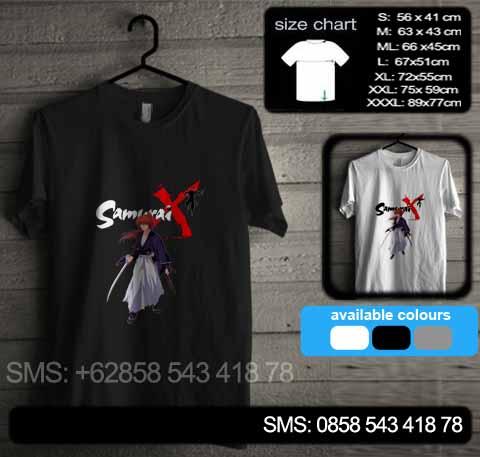 baju kaos samurai x 02