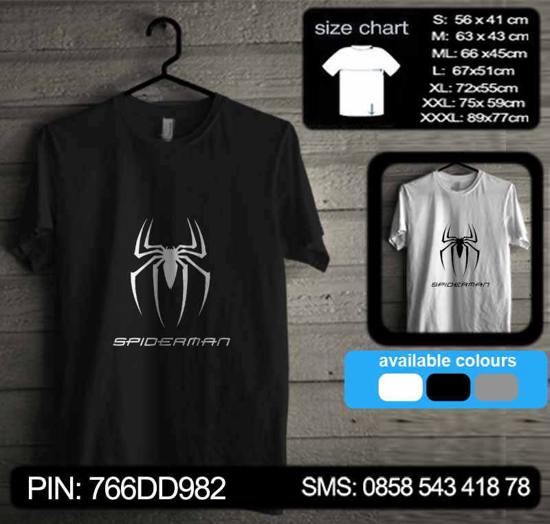 baju kaos spiderman spd06