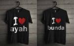 Baju Kaos Tshirt Couple ayah bunda Kode Cab01