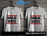 Kaos Couple Mas Bro & Mbak Bro Kode masbro01