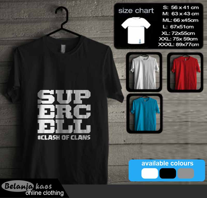 tshirt supercell clash of clans 04