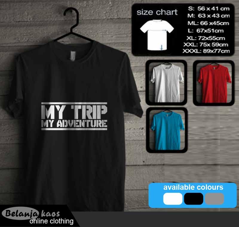 Tshirt my trip my adventure 01
