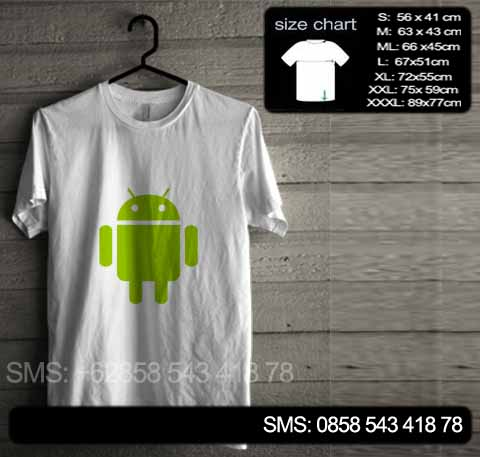 baju kaos android