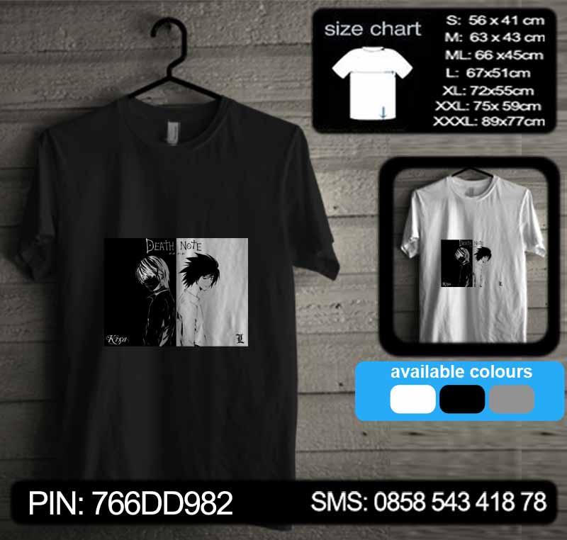 Kaos Death Note Tshirt Kode dn14