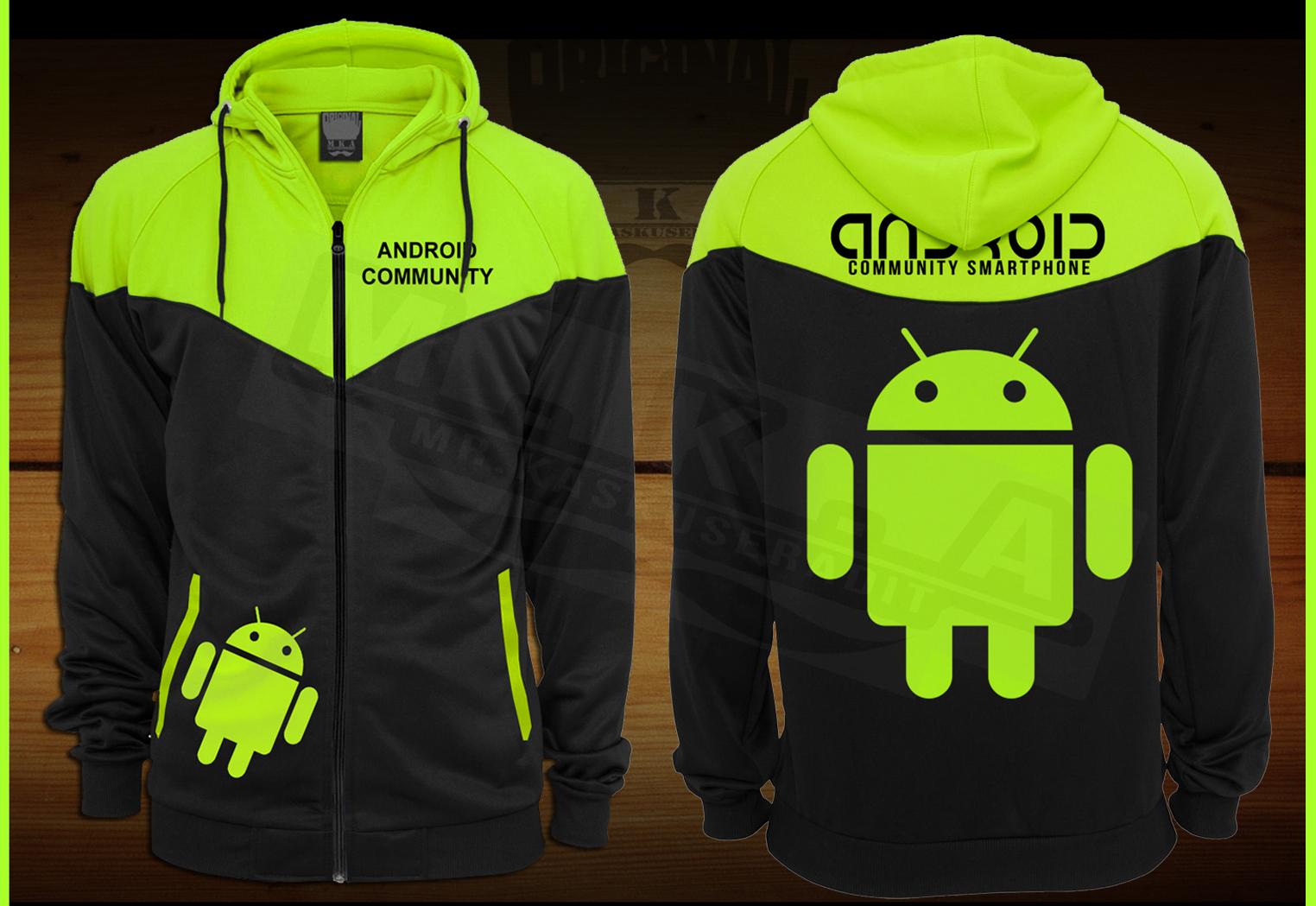 jaket android, kaos android, android tshirt, baju android