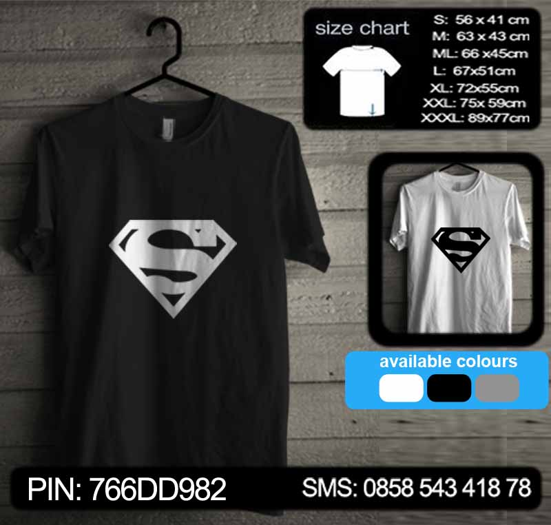 baju kaos superman 01