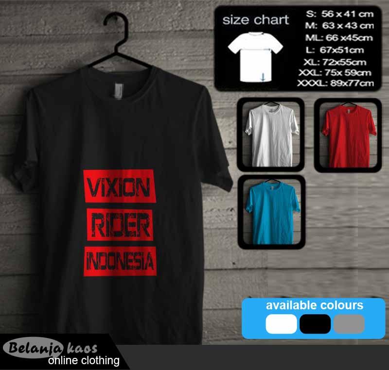 Kaos Vixion Rider Indonesia Kode Vixion04